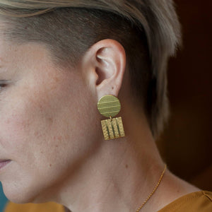 Michelle Starbuck Designs Striped Shapes Earrings