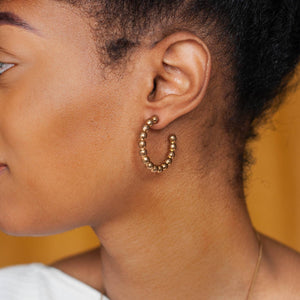 Michelle Starbuck Designs Spindle Hoops