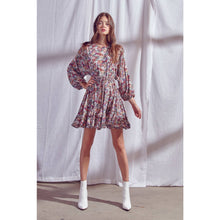 Load image into Gallery viewer, Floral Print Semi Pleated Mini Dress