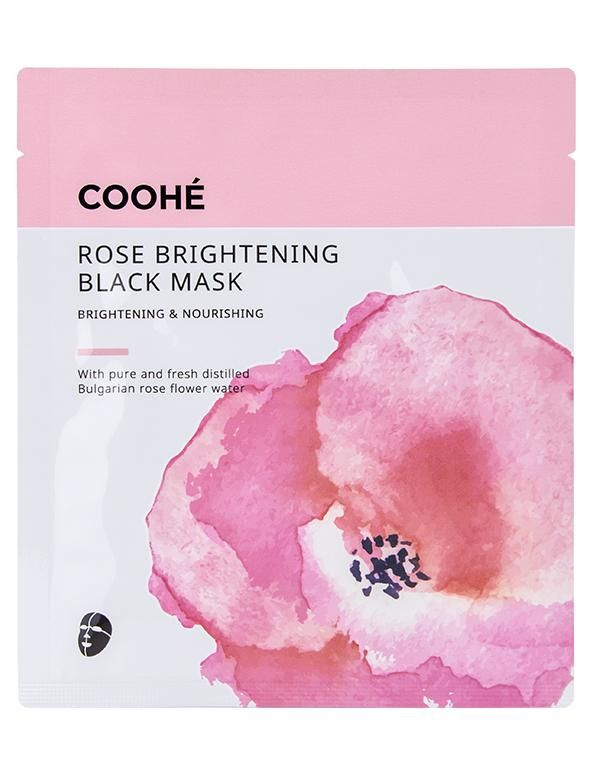 ROSE BRIGHTENING BLACK MASK