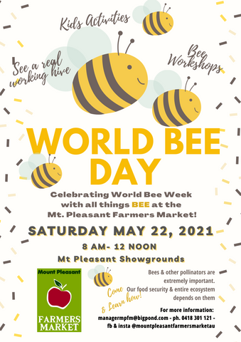 World Bee Day at Mt Pleasant Farmers Market