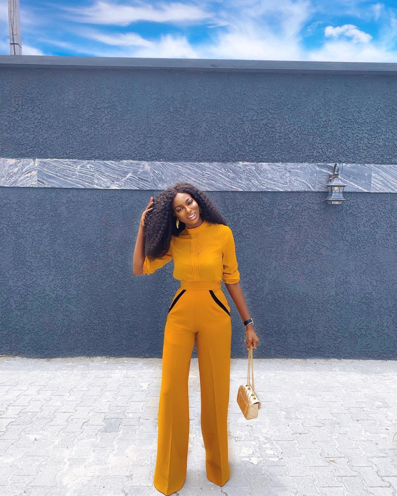 Mustard Seuss High Waist Pants