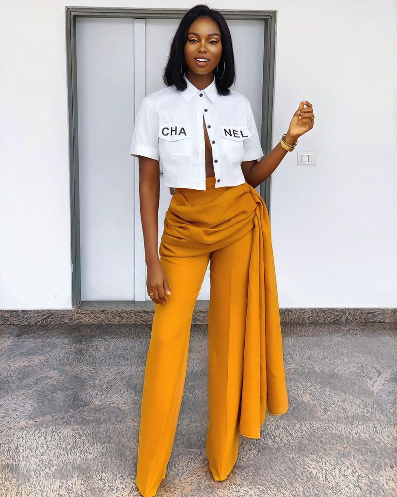 Mustard Nelly High Waist Pants