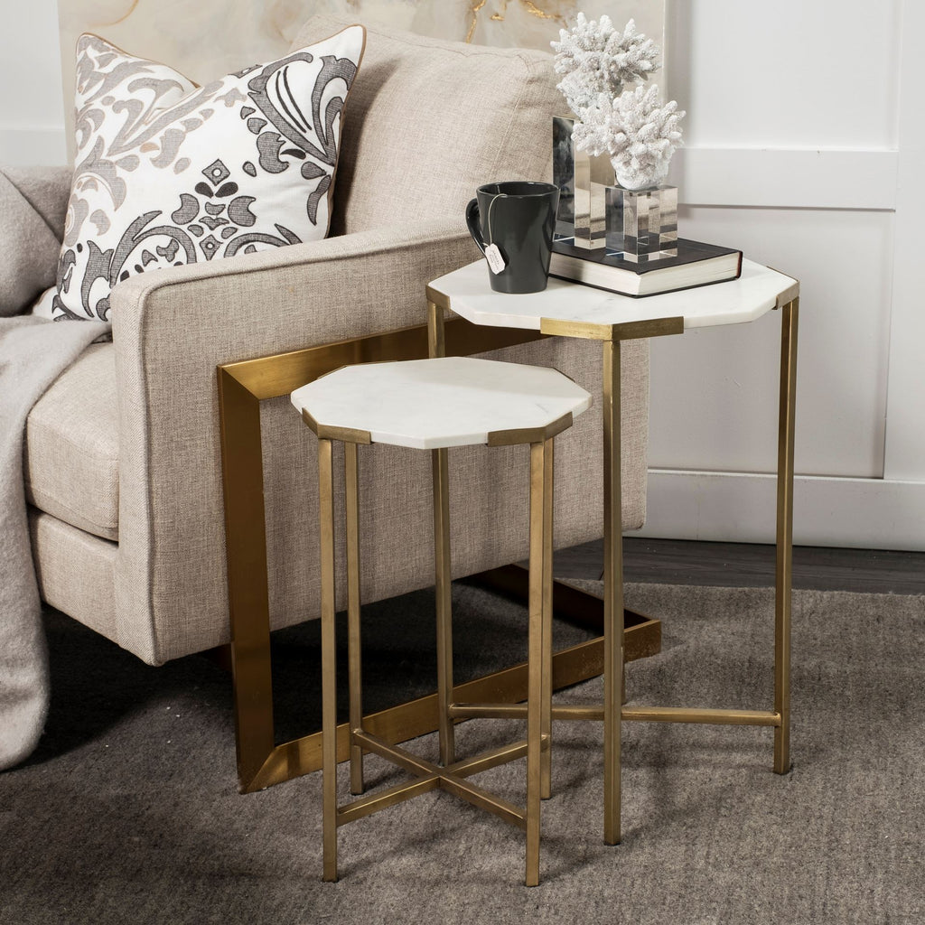 Side Tables, Marc, Marble Set of 2