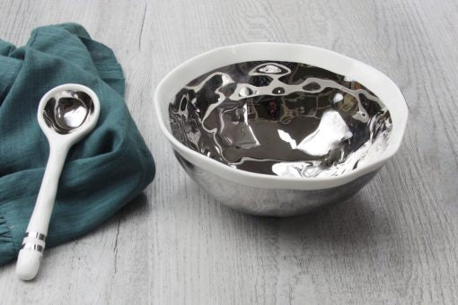Wavy Bowl w/spoon set