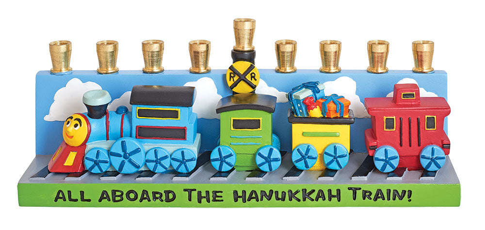 All Aboard the Hannukah  Train Menorah