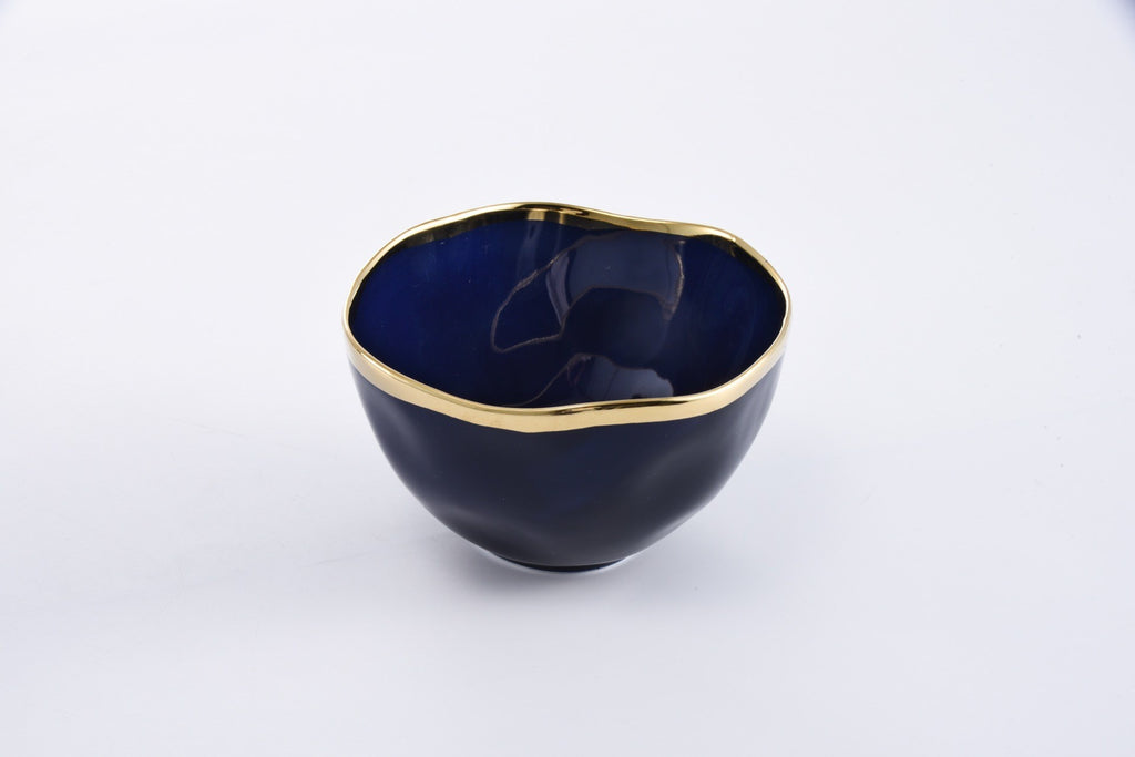 Medium Blue Porcelain Bowl