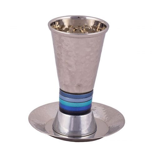 Kiddush cup, Rings Blue