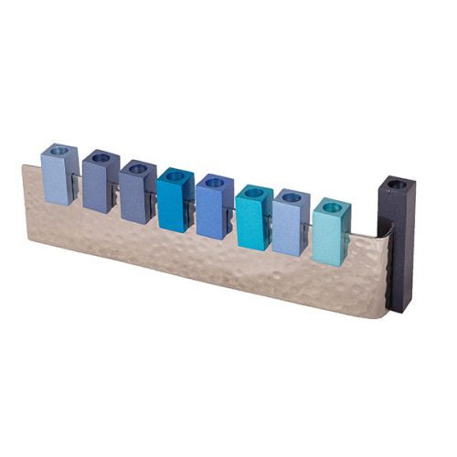 Menorah L-shaped Blue