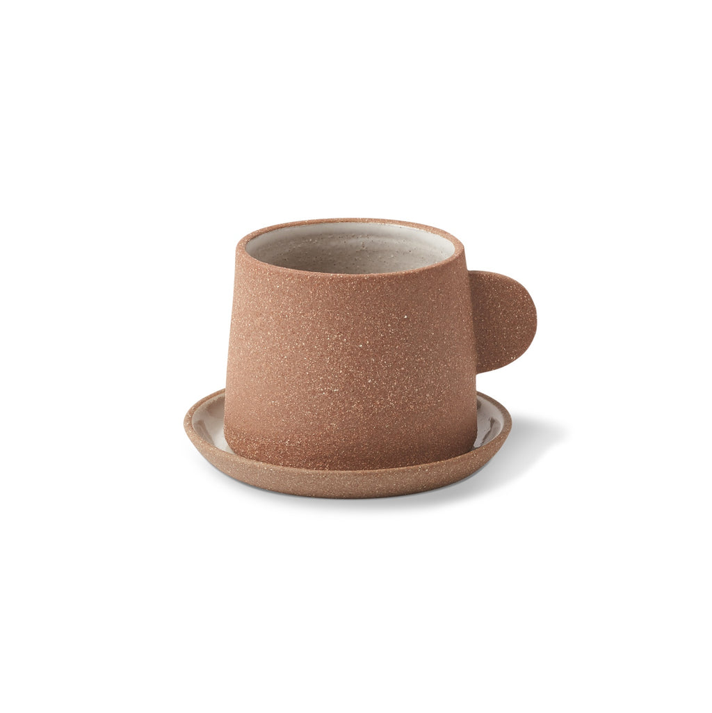 Ceramic Canyon Cup and Saucer