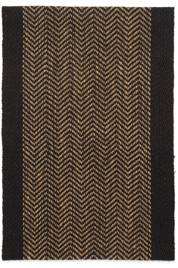 Rug, Runner Jute Black & Natural 2' x 7'
