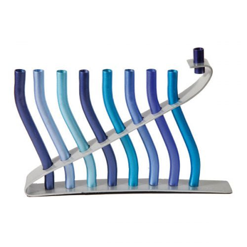 Menorah, Waves in blue