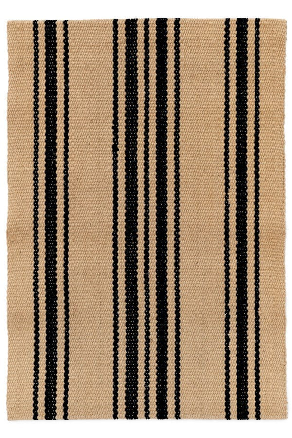 Rug, Runner Jute Natural & Black  2 ' x 7'