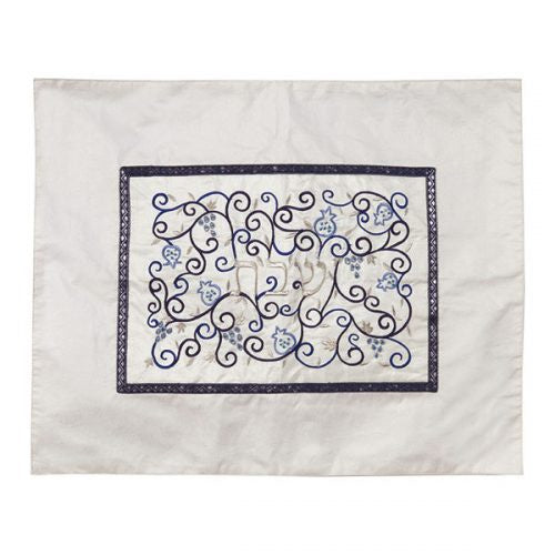 Challah  cover White+Blue
