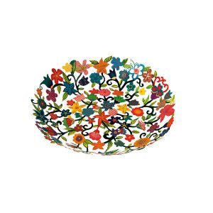 Hand painted Flower small laser cut bowl