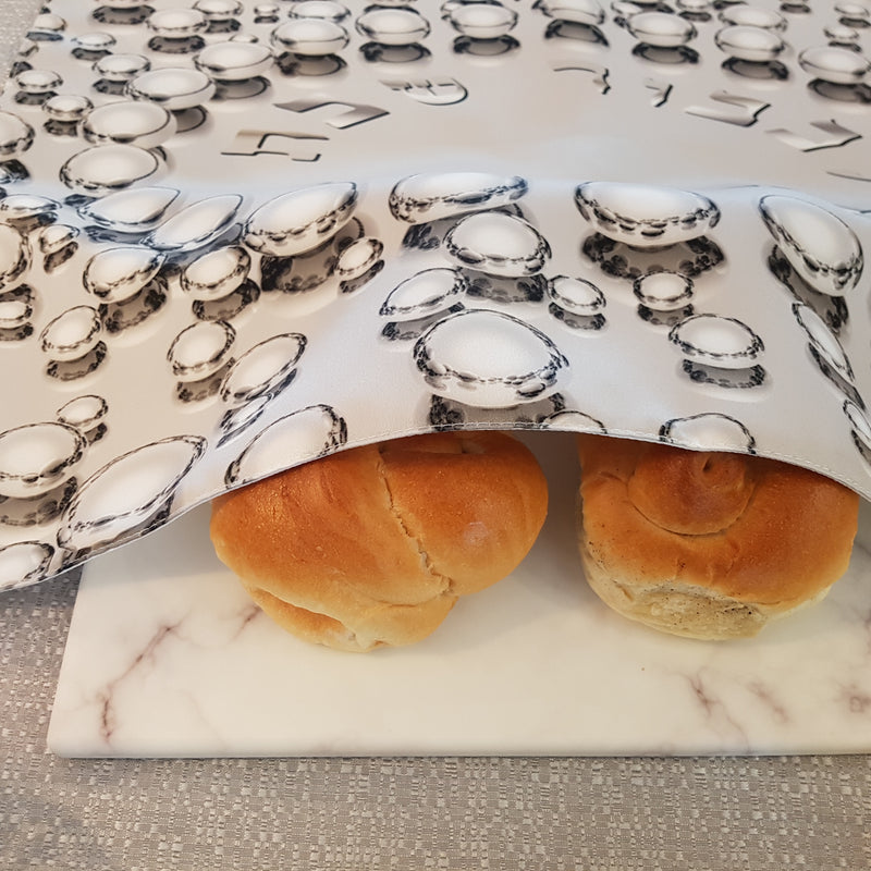 Silver Pearls Challah cover