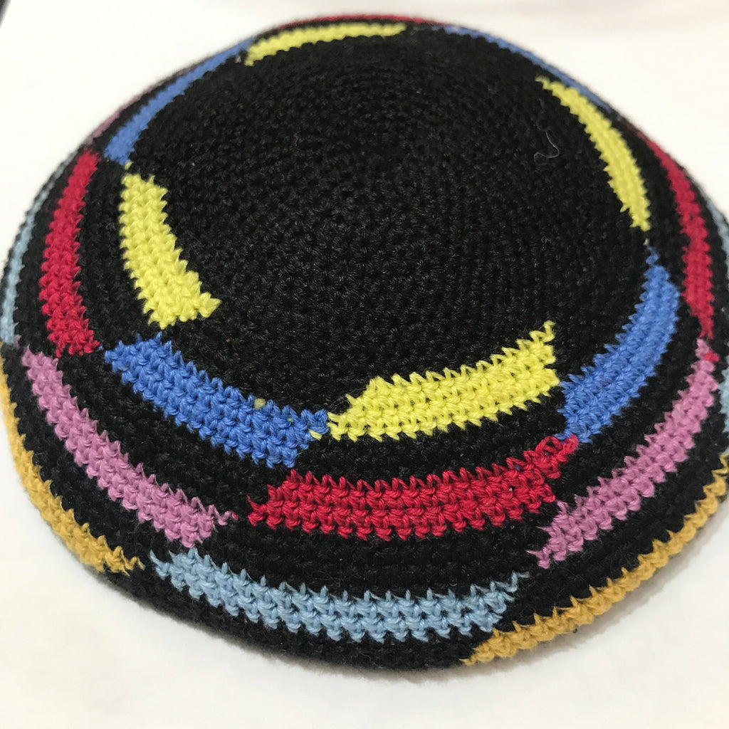 Knit Kippah, Multi Colour