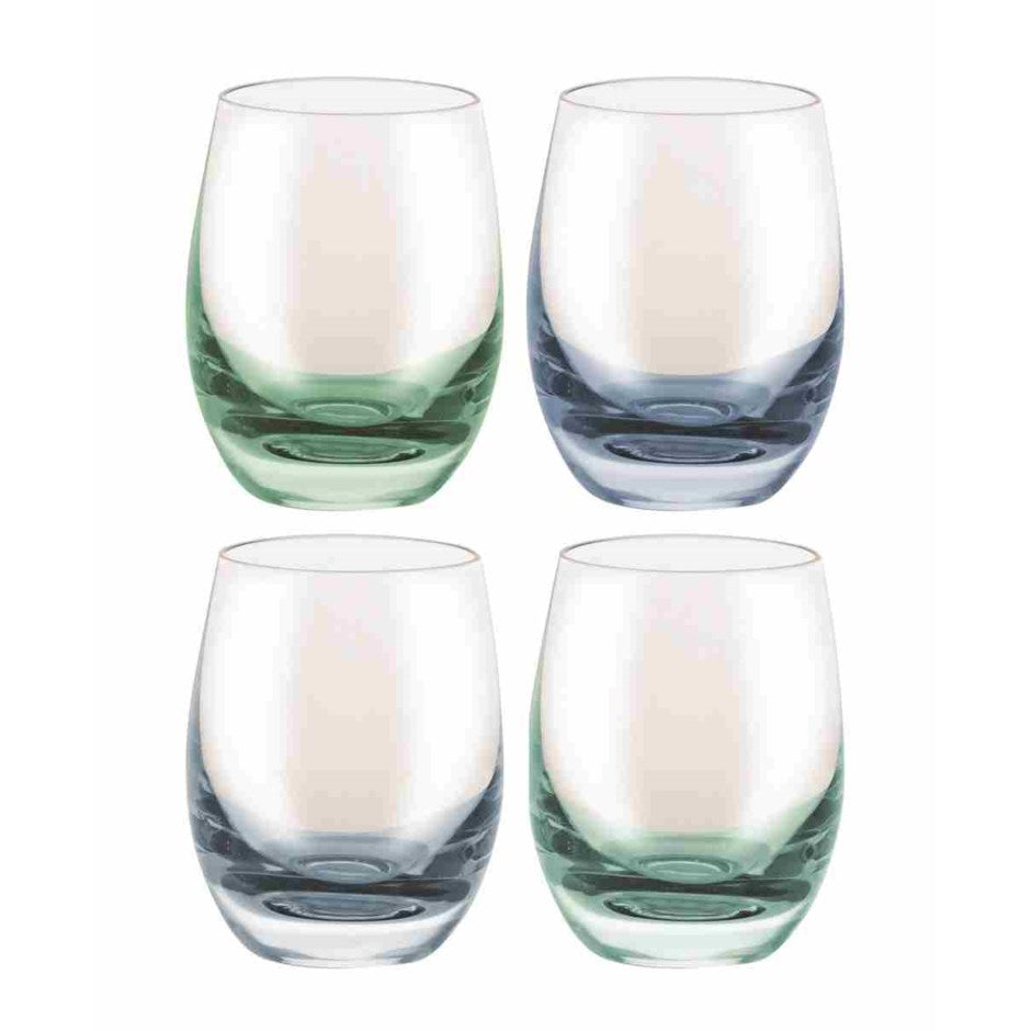 Bar, Crystal Shot Glass, Set of 4 Blue