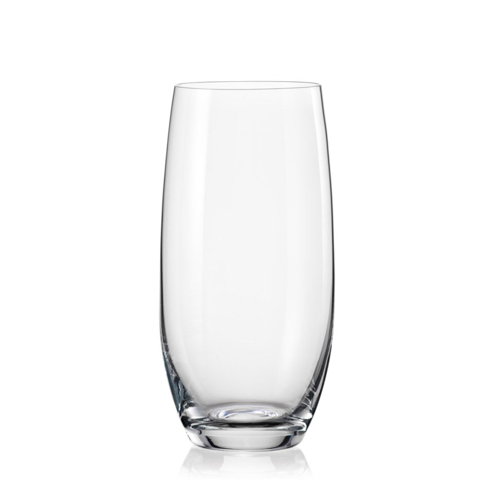 Bar, Hiball Crystal Glass, Set of 6, 16.5 oz