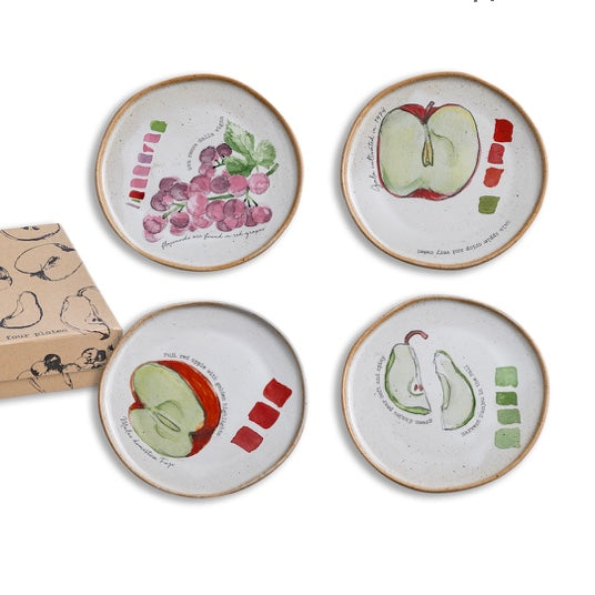 Fruit Plates Set of 4