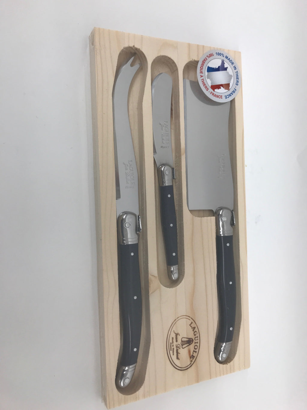Cheese, Laguiole Cheese Knife Set-Grey
