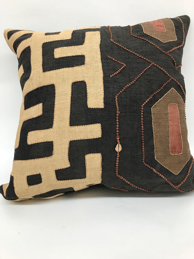 Pillows, Vintage Kuba Fabric, Feather Down Fill