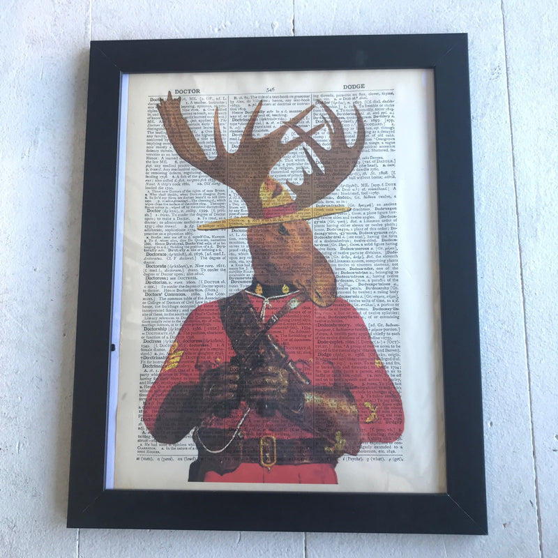 Wall Art, Mounty Moose