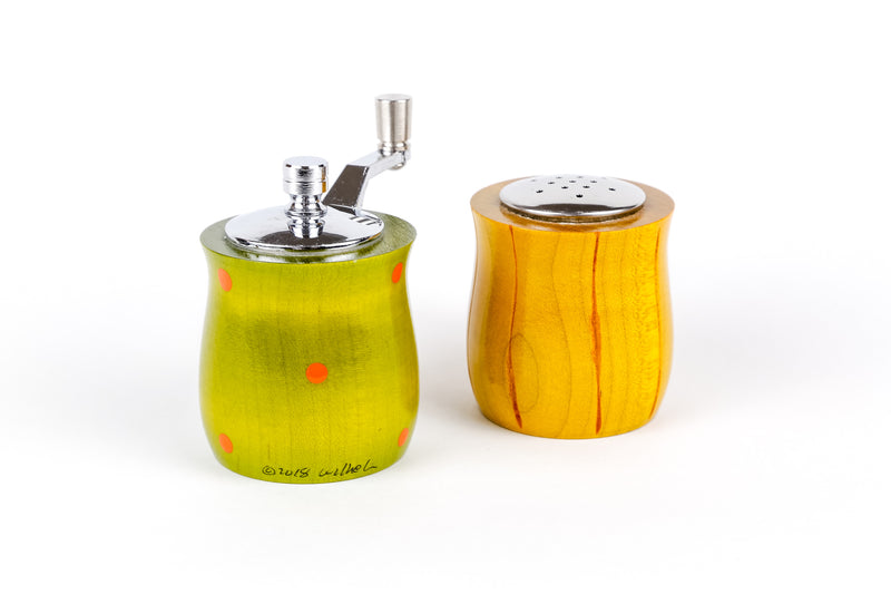 Salt and Pepper Grinder Set, Lime & Mustard