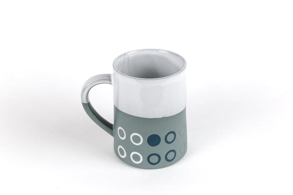 Porcelain Venetian Mist 12 oz Graphic Taper Mug