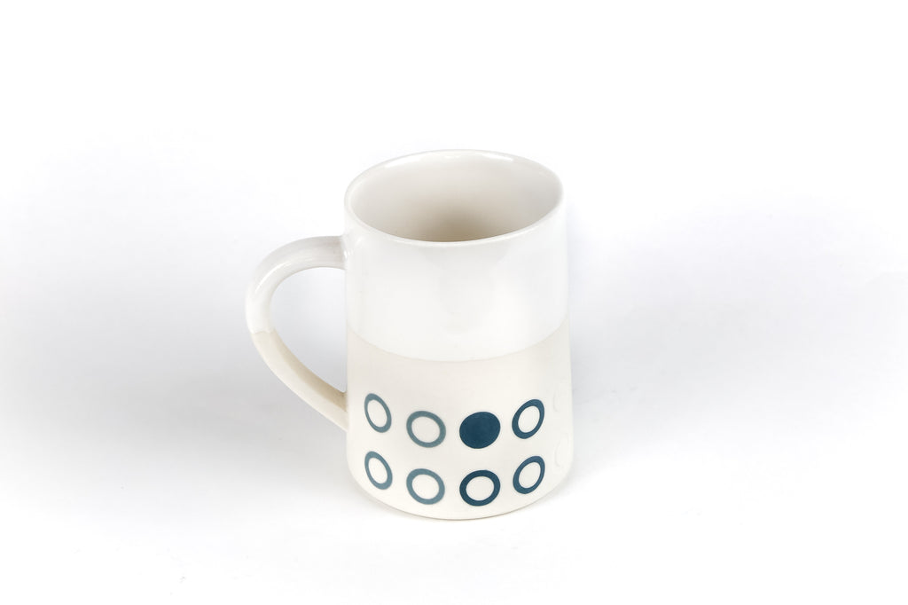 Porcelain Natural White  12oz  Graphic Taper 12 oz  Mug