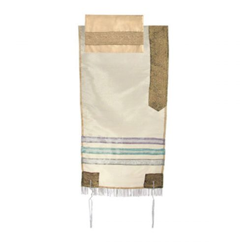 Tallit, Organza Gold. Includes Bag