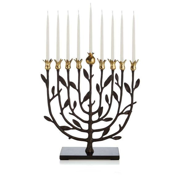 Menorah Pomegranate on Granite base