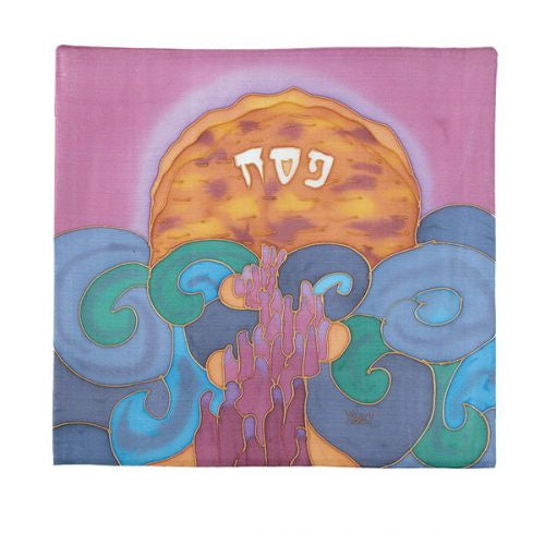 Matzah & Afikomen set hand painted on silk