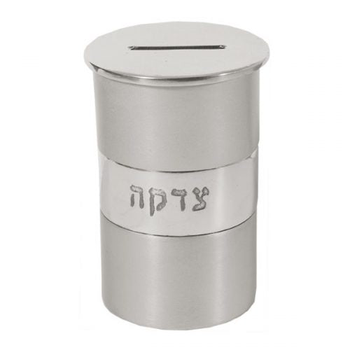 Tzedakah Box, Grey