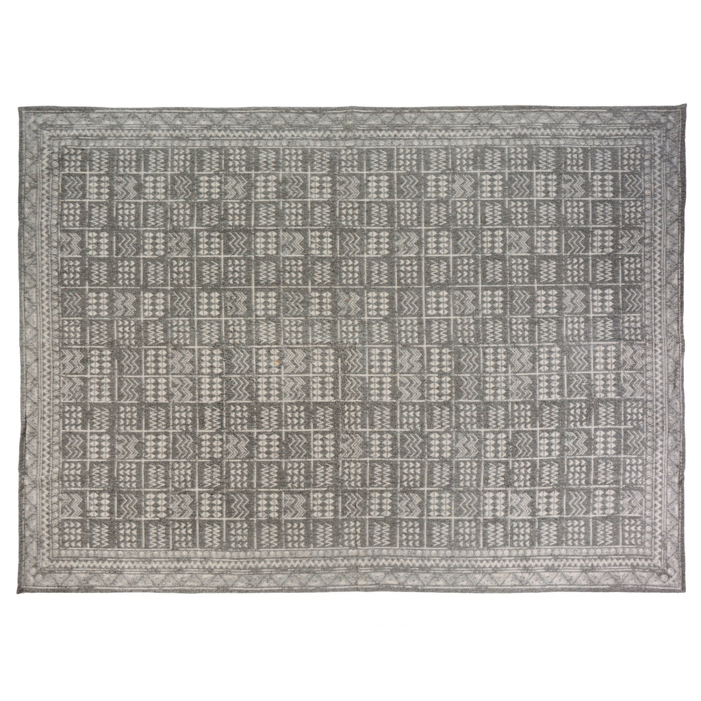 Rug, Brushed Aztec 100% cotton 5 x 7
