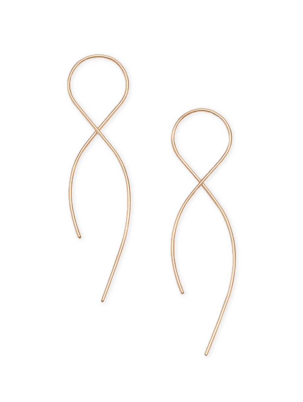 Earrings, Small  Infinity 14kt Rose Gold Filled