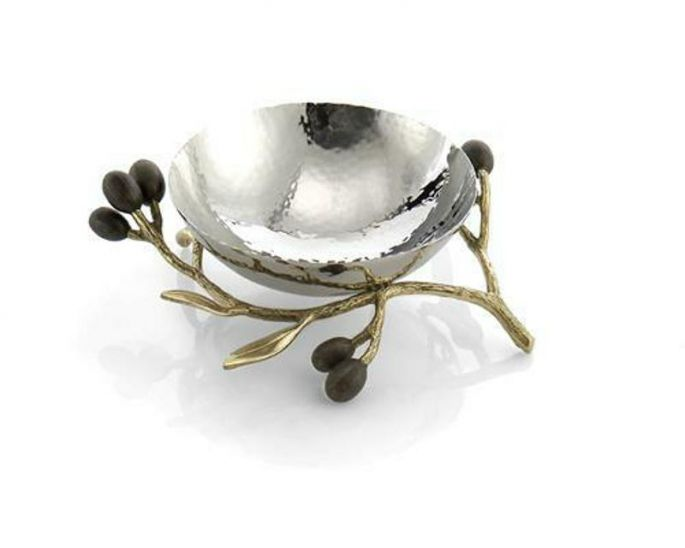 Michael Aram,  Olive Branch Gold Nut Dish