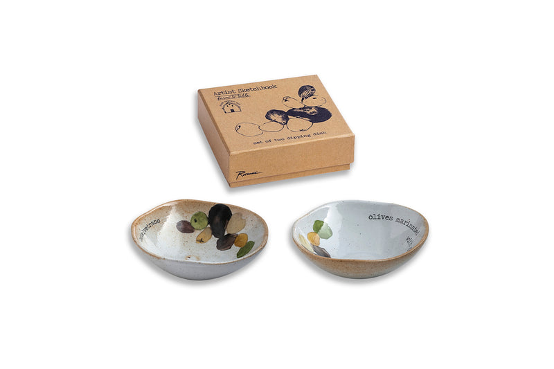 Dipping dish olives set/2