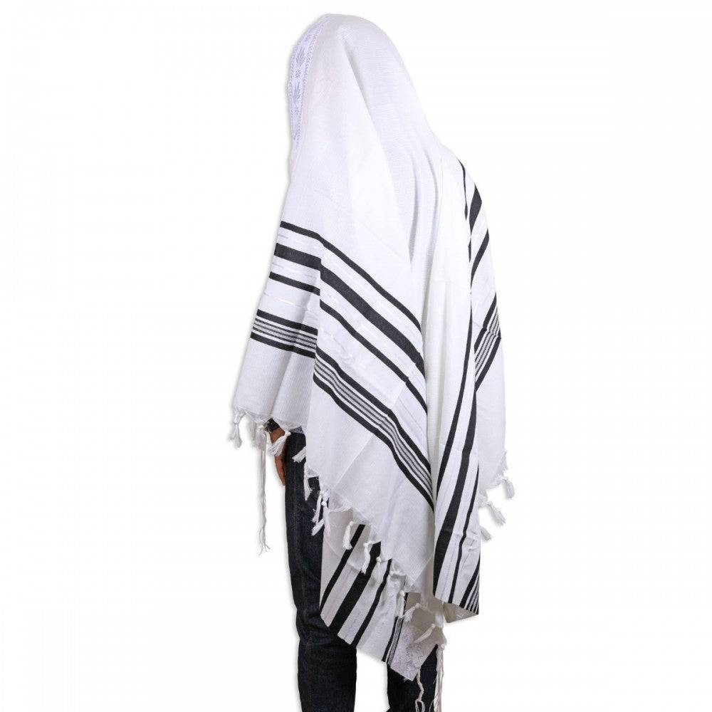 Tallit, Traditional Pure Wool Tallit,  Chabad 42 x 64