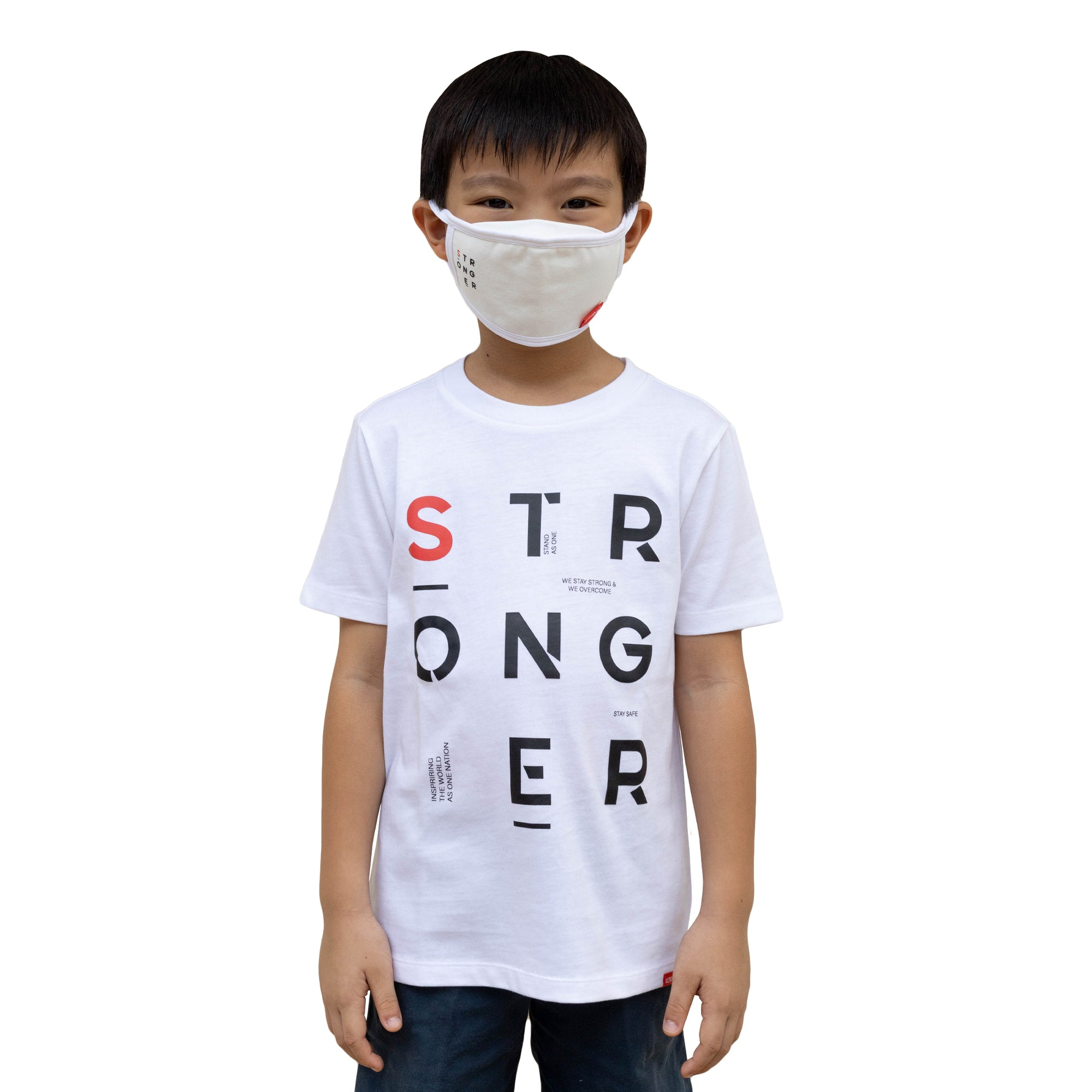 ULTRA A Anti-Bacterial Tee + 3-Ply Anti-Bacterial Mask Co-Ord Set (Stronger - Kids)