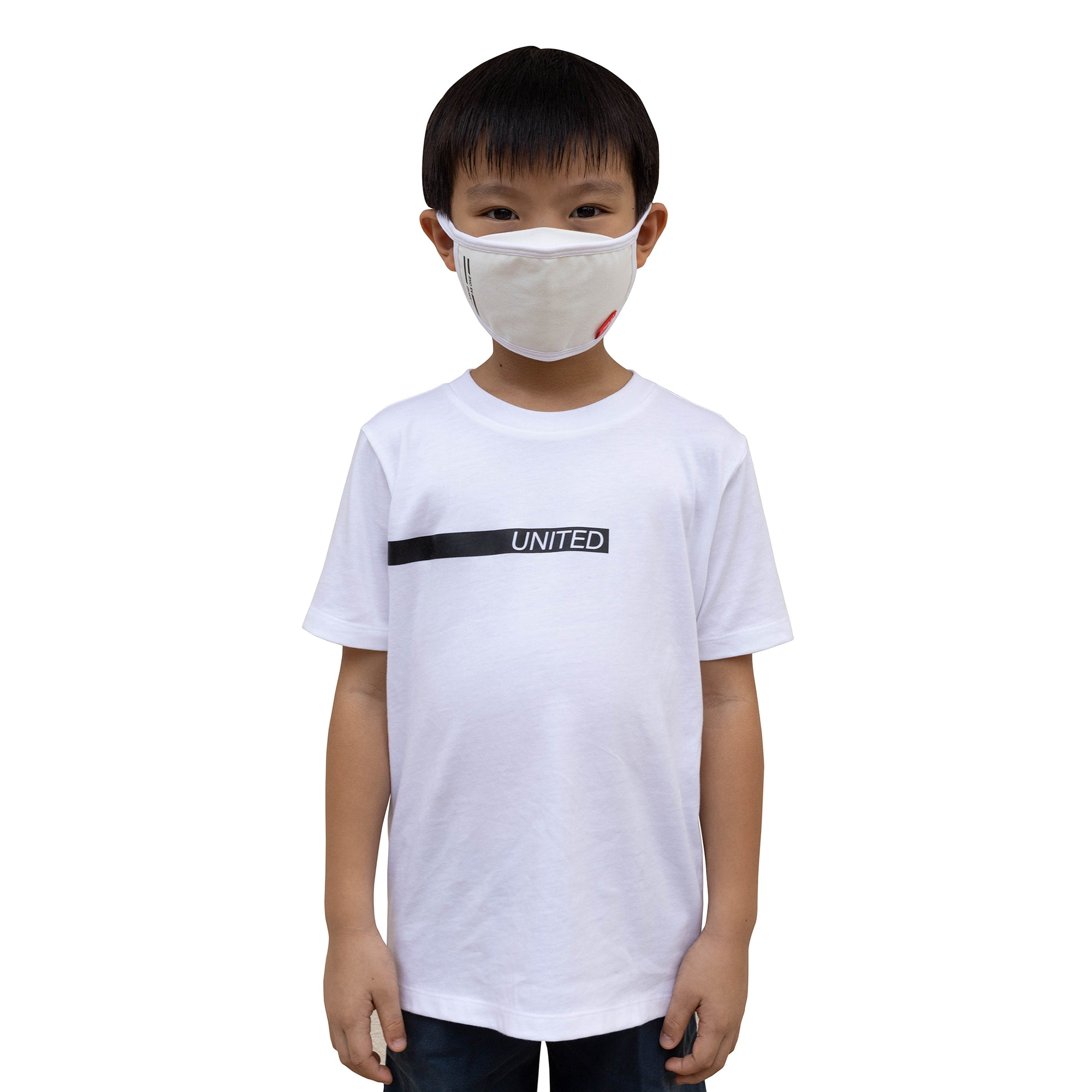 ULTRA A Anti-Bacterial Tee + 3-Ply Anti-Bacterial Mask Co-Ord Set (United Stand As One - Kids)