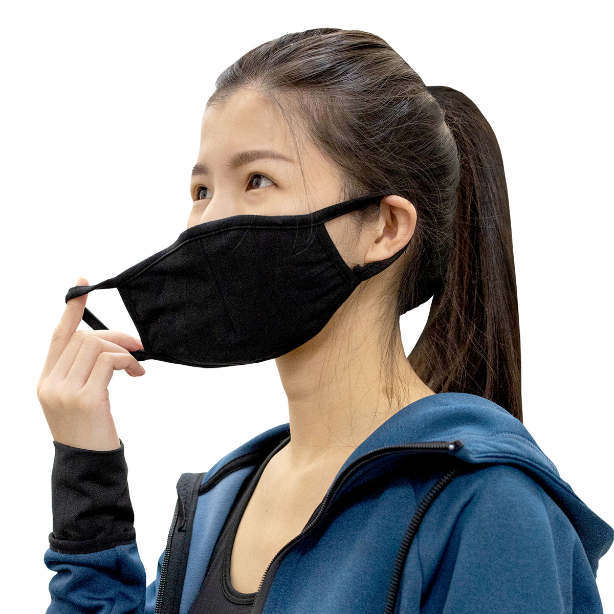 V2 3-PLY ANTI-BACTERIAL MASK (BLACK)
