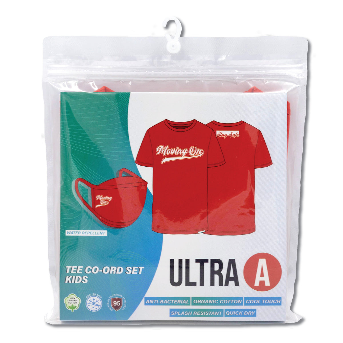 Anti-Bacterial Tee + 3-Ply Anti-Bacterial Mask Co-Ord Set (Moving On - Kids)