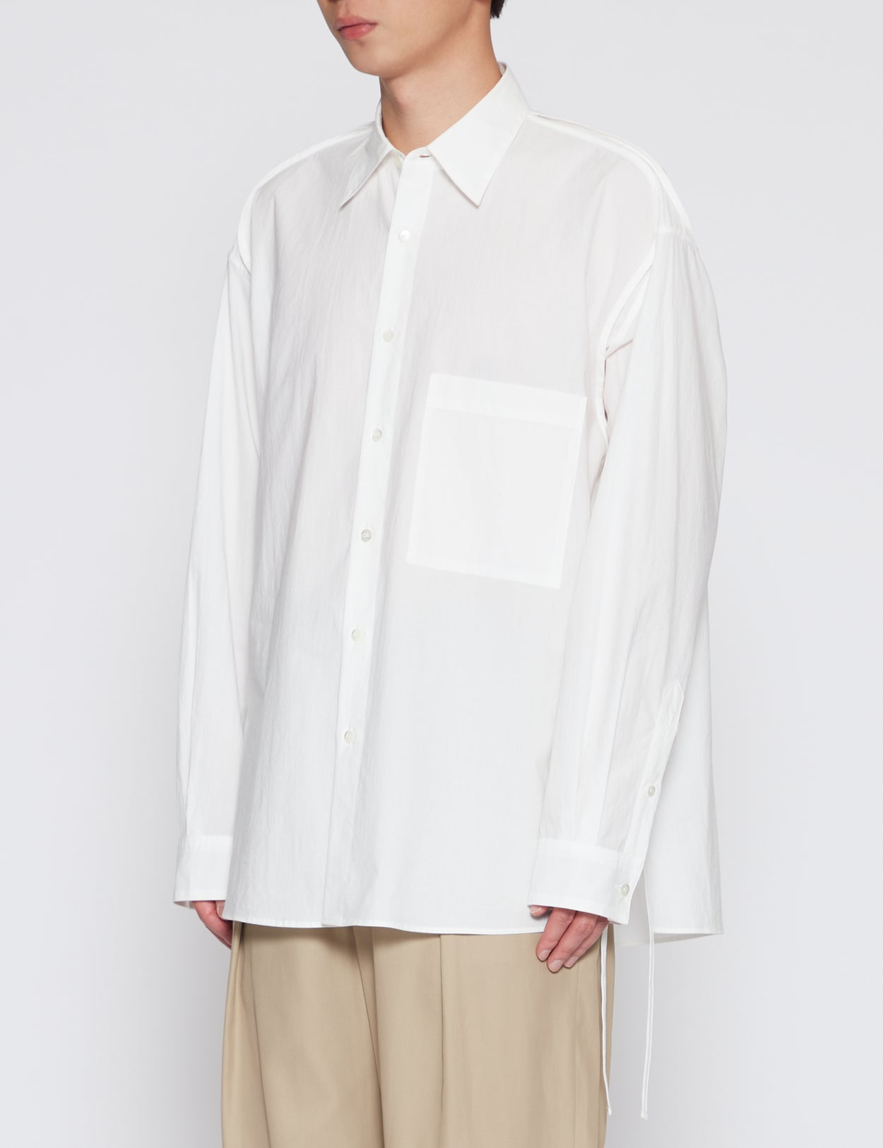 WHITE PIPPING SHIRT