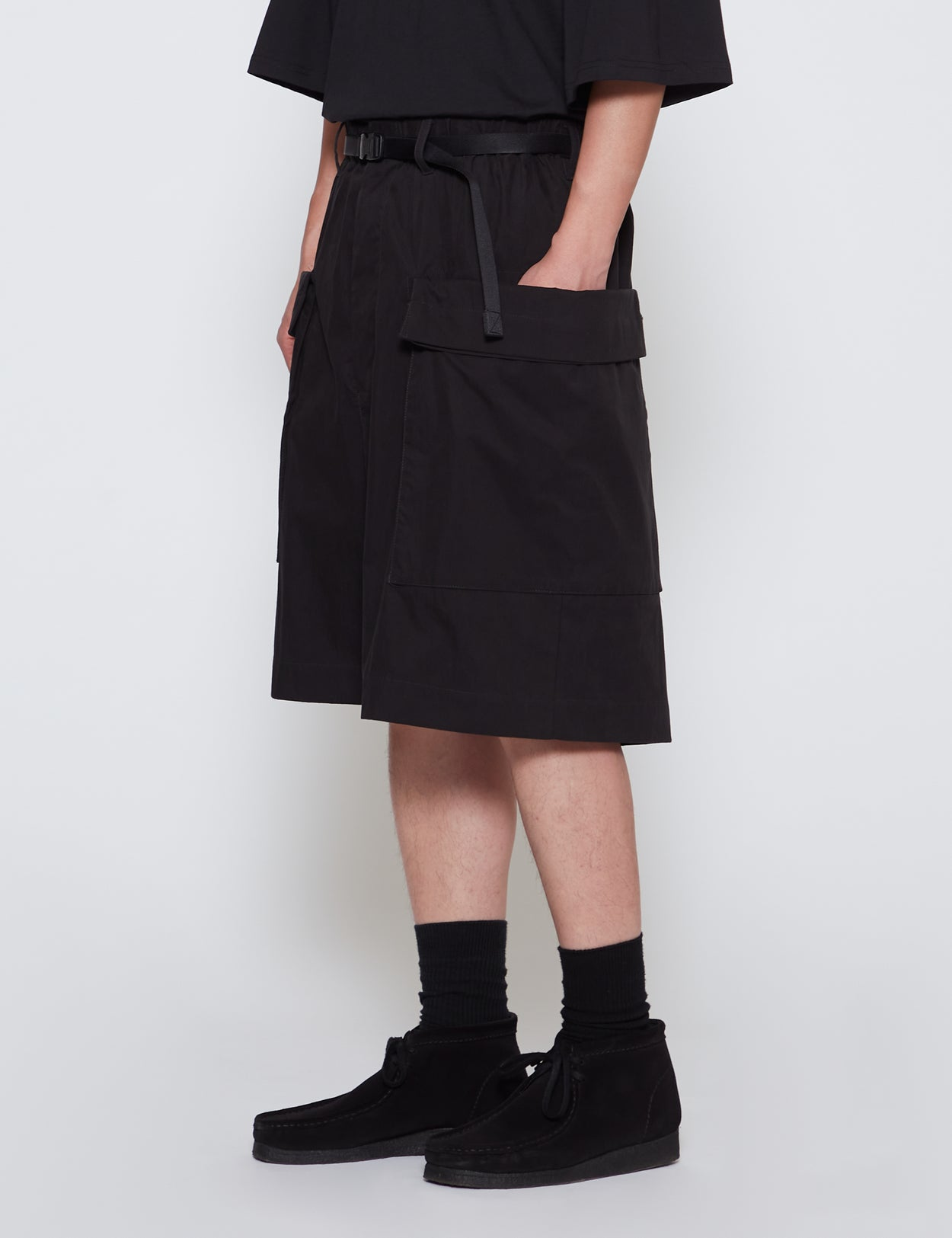 BLACK P-1 ACID SHORT PANTS