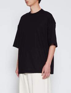 BLACK OVERSIZED INSIDE-OUT T-SHIRT