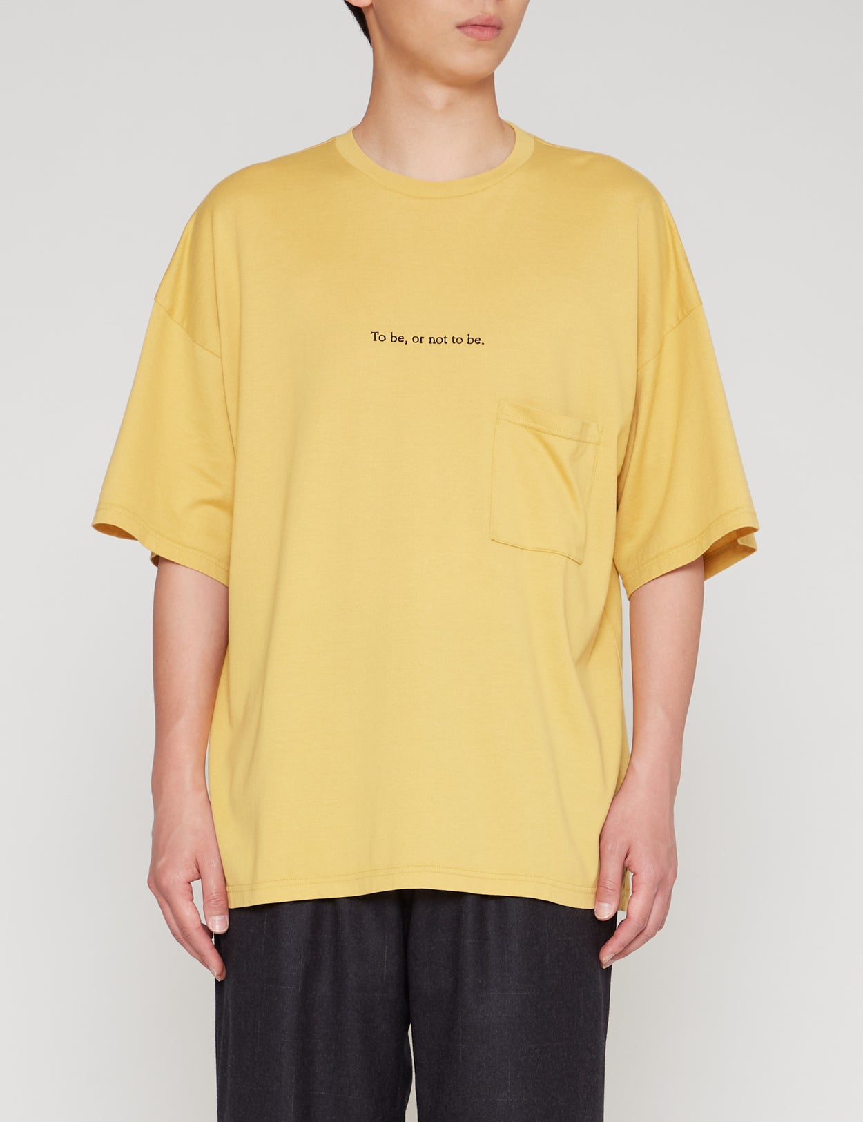 YELLOW WIDE FIT POCKET T-SHIRT
