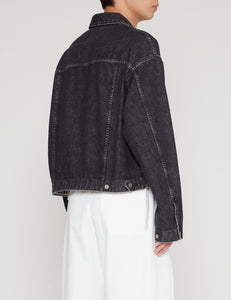 BIO BLACK 857B DENIM TRACKER JACKET