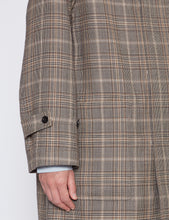 Load image into Gallery viewer, BROWN CHECKED DOUBLE CLOTH DUFFLE COAT