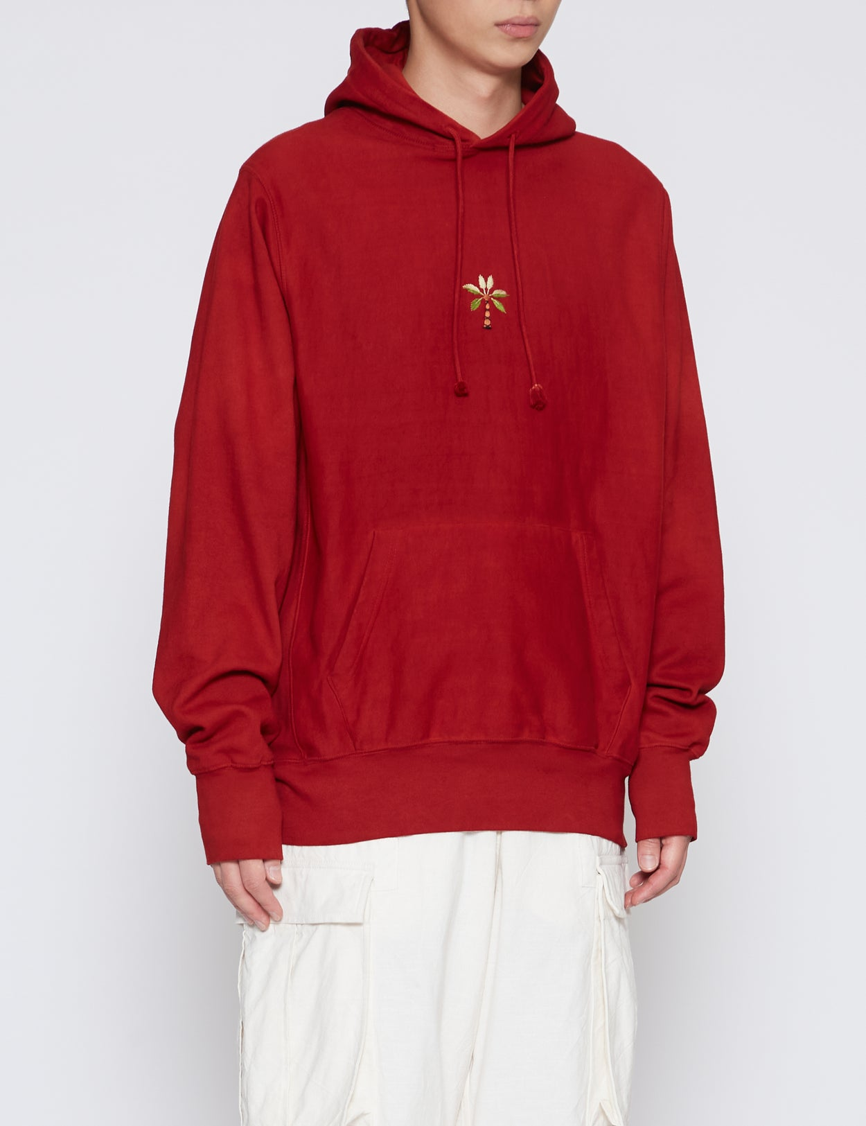 RED BLOOM HOODED SWEATER